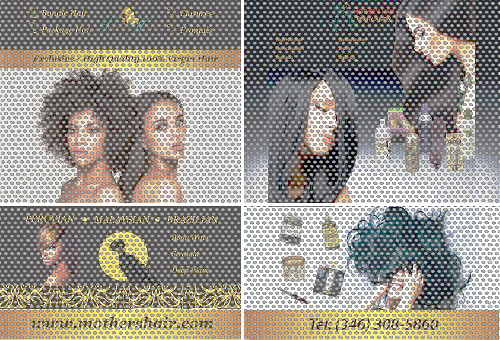 4-Piece 70/30 Perforated Mesh Window Decal (See Through)
